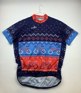 Borah Teamwear Men's Cycling Jersey Size 2XL Christmas Holiday
