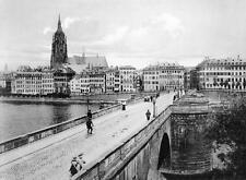 Photo. ca 1910. Frankfurt Am Main, Germany. Sky View from Bridge Mill