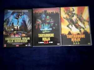 Vendo trilogia film dvd TARTARUGHE NINJA ALLA RISCOSSA (lotto) FUORI CATALOGO