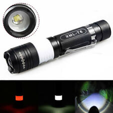 12000LM XML-T6 LED Zoom Flashlight Torch USB Rechargeable Camping 18650 Lamp