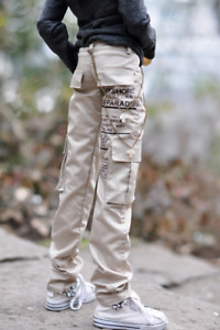 1/4 1/3 Uncle ID BJD Cargo Pants Outfit Doll Clothes Trousers Pockets Deco Beige
