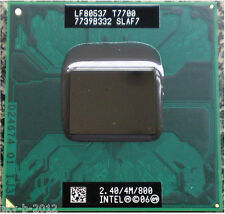 Intel Core 2 Duo T7700 SLAF7 SLA43 2.4 GHZ 4MB 800MHZ Socket P Processor  E cpu
