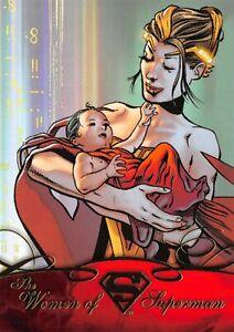 DC Comics Superman the Legend WOMEN Trading Card Insert WOS-01 / LARA LOR-VAN