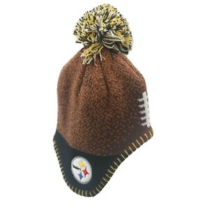 Pittsburgh Steelers Official NFL Baby Infant Kids Youth Pom Knit Winter Hat Cap
