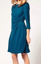 "Vestido de noche BNWT ""Costa"" tamaño 14 teresse día Bodas inteligente (42 EU) Verde Azulado 🌹"