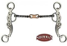 "Showman 5"" Brown Steel Bit w/ Twisted Mouth & Copper Dogbone! NEW HORSE TACK"