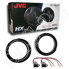 VW Lupo FOX New Beetle Lautsprecherringe 165mm KFZ Adapter JVC 3-Wege System SET