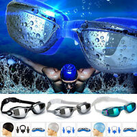 Anti-Fog Mirrored Swim-Swimming Goggles UV Protection Adjustable Shatterproof