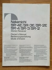 Nakamichi SR4 SR3 SR2 Bedienungsanleitung Owner Manual original DE EN FR