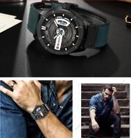 CURREN Watch Men's Quartz Watches Leather Wristwatches Casual Sports Black Brown