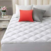 Reversible Pillowtop Mattress Pad Cooling Polyester Plush Sherpa Deep Pocket New
