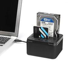 """DUAL USB 3.0 Dockingstation 2,5"""" - 3,5"""" SATA HDDs Offline Klon Docking Station"""