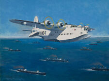 Short Sunderland Coastal Command Norwegian Aviation Aircraft Art Print
