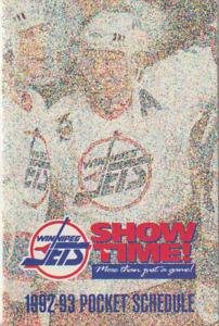 1992 Winnipeg Jets Pocket Schedule