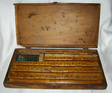 Vintage 112 Piece Sign&Price Rubber+Wood Stamp Kit - Original Wood Box+Specialty