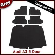 Audi A3 Mk2 Sportback 2003-2013 Tailored Carpet Car Floor & Boot Mats GREY