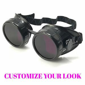 Steampunk costume goggles glasses goth punk mad scientist accessories mens