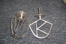 Vintage Kenwood Chef balloon whisk & K beater fits our A701A mixer used see det