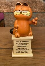 Garfield Enesco Life Is Arriving At A Mutually Acceptable Compromise figurine 5�