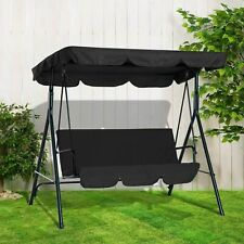 3 SEATER GARDEN SWING CHAIR SEAT HAMMOCK SWINGING METAL TERRACE CANOPY BENCH