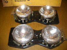 NOS 1965 Chevrolet Impala SS Pair Complete Headlight Assemblies with T-3's