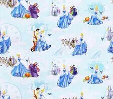 Fat Quarter Disney Cenicienta personajes Toss 100% algodón acolchada Tela Azul