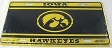 IOWA HAWKEYES LICENSE PLATE METAL TRUCK AUTO CAR NEW SIGN L0960