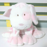 Kids Preferred White & Pink Dog Plush Toy Certified Asthma Friendly 22cm Tall!