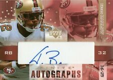 2003 UPPER DECK FINITE AUTOGRAPHS GOLD #FA-KB KEVAN BARLOW AUTO #D /25 SP 49ERS
