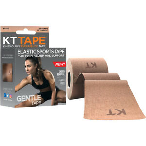 "KT Tape Gentle 10"" Cotton Precut Kinesiology Therapeutic Sports Roll - Beige"