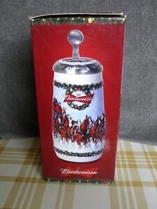 Budweiser 2009 Lidded Holiday Stein CS699SE Signed