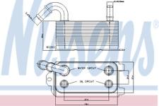 Oil Cooler 90661 for VOLVO V60 D3 / D4 AWD D5 D6 Hybrid T3 T4 T4F T HQ