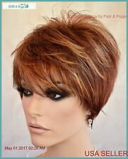 Synthetic Short Hair Wig for Women Color Flame  CUTE STYLE 1188