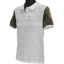 Oakley FEAST Polo Mens Size M Medium White Camo T-Shirt Golf Casual Dress Tee