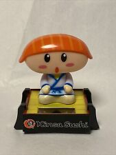 Solar Powered Salmon Sushi Boy Solar Bobblehead Dancing Toy USA Seller