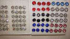 Diamante stud Earrings- New Wholesale 2 Joblot 48 pairs 5mm & 7mm Hypoallergenic