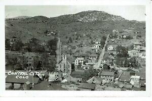 RPPC 1920's CENTRAL CITY Co COLORADO - BIRDSEYE VIEW  - REAL PHOTO POSTCARD