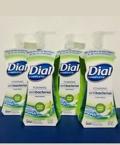 LOT OF 4! Dial Complete Antibact Foaming Hand Soap FRESH PEAR 7.5 oz each 30oz T