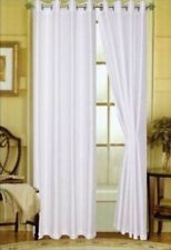 NEW!! Editex Home Textiles Elaine Window Panel, 58 by 63-Inch, White NEW!!!