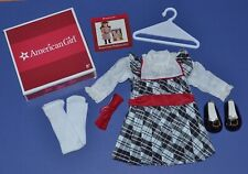 American Girl Nellie's Holiday Outfit Dress Tights Shoes Bow New in Box