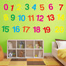 Nursery Wall Decor 1 to 20 Sticker Kids Decal Vinyl Removable Decals Art A378