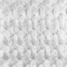 "White RoseBud Minky fabric per yard blanket throw lining 58"" wide"