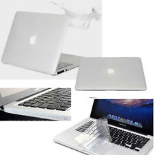 3IN1 Excellent Logo Cut-out Matt Matte Coating Hard PC Cases Cover for Mac Book