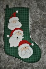 Christmas Stocking High End Santa Three Expressions Seasonal Christmas Stockings