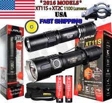 Klarus XT11S + XT2C Ultimate Combo CREE XP-L V3 LED + 18650 Battery + Gun Mount