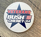 Veterans For George W Bush Dick Cheney 2004 04 President Pin 2.25 Round Button