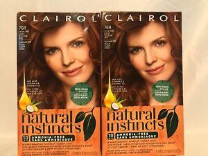 (2) Clairol Natural Instincts Hair Color 7GR / 15RG Light Golden Red