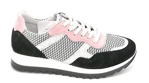 Igi e Co 7150011 sneaker camoscio nero-rosa rete glitter argento U