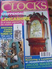 CLOCKS MAGAZINE - MARCH 2002 CHIPPENDALE LONGCASE LANCASHIRE COOKE TURRET