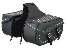 Motorrad Leder Gepäcktasche Beutel Koffer Sattel Werkzeug Seitentasche Universal